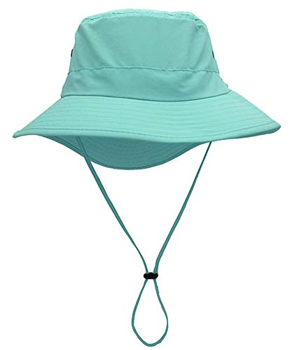 Ommda Sonnenhüte Herren und Damen Sommer Baumwolle Outdoor Sonnenhut UV Schutz UPF 50+ Fischerhut Bucket Hat Atmungsaktiv Hellblau