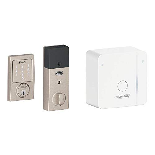 Schlage Sense Smart Deadbolt with Wi-Fi adapter