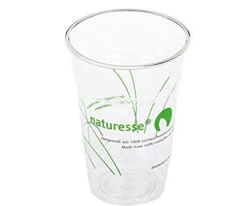 50 Gobelets Transp. Naturesse + PLA - 25 Cl