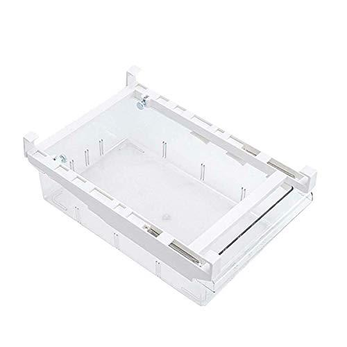 Refrigerador Organizador Contenedor Cajón de refrigerador transparente con compartimento, Refrigerador Contenedor ordenado Contenedores de almacenamiento de PET Cajón de refrigerador extraíble Caja