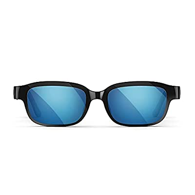 Echo Frames (2nd Gen)   Smart audio sunglasses with Alexa   Classic Black with new polarized blue mirror sunglass lenses from Amazon