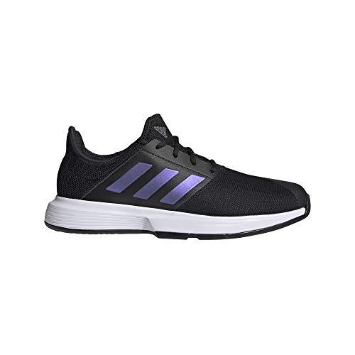 adidas GameCourt M, Zapatillas de Tenis Hombre, NEGBÁS/NEGBÁS/FTWBLA, 41 1/3 EU