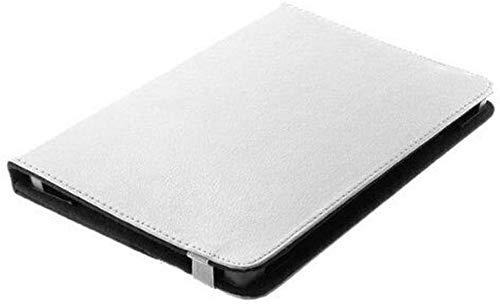 gtsk Bookstyle Tablet Tasche Etui Book Hülle mit praktischer Standfunktion geeignet für Alcatel-Lucent 1T 10 - Schutz Hülle Mappe Cover Weiss