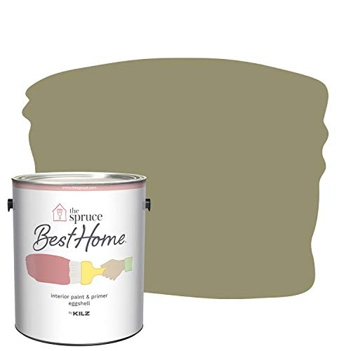 The Spruce Best Home by KILZ 15119501 Interior Eggshell Paint & Primer in One, 1 Gallon, SPR-07...