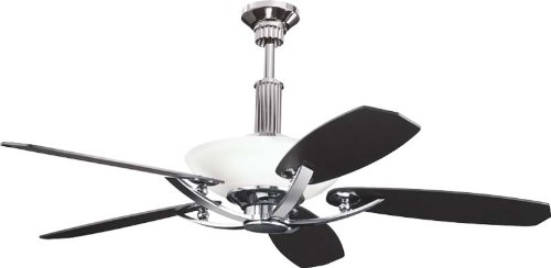 Kichler 300126MCH, Palla Midnight Chrome Uplight 56' Ceiling Fan with Remote Control
