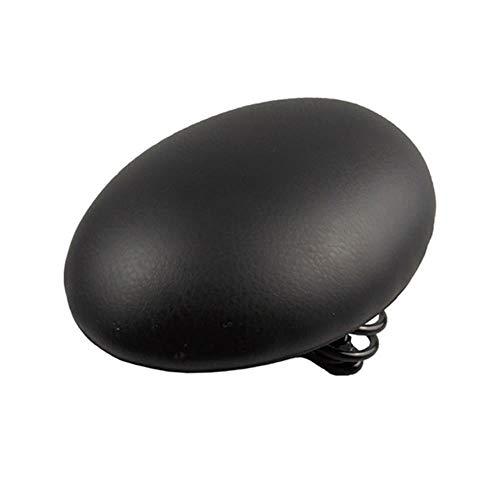 Zxcvbnm Fahrradsättel mit geteilter Nase, gepolstert, multifunktional, Easyseat, ergonomisch, breit, weich Schwarz