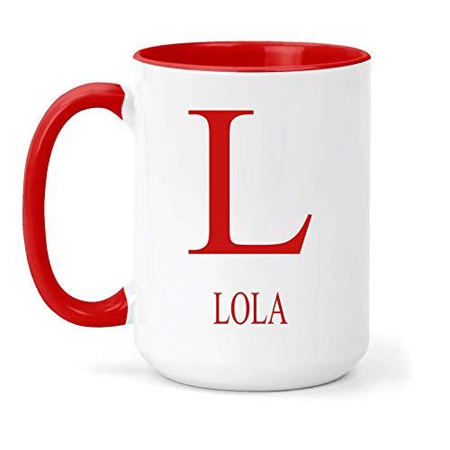 Lola - Taza, diseño con texto en inglés