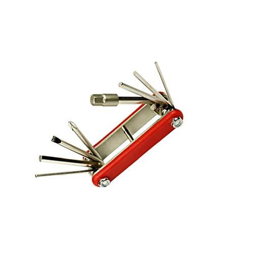 Proof Set clé Tamper Pliante Star Mountain Bike Repair Tool clé hexagonale Set Outil Rouge 1Régler sécurité