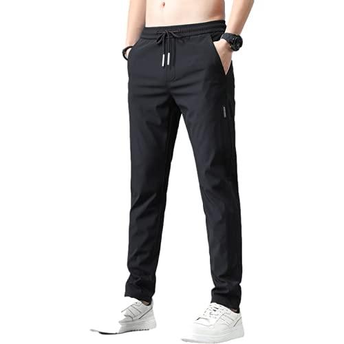 Pantaloni Casual da Uomo Primavera ed Estate Auto-Coltivazione Moda Pantaloni da Gioventù a Gamba Dritta Tutto-fiammifero con Cintura e Coulisse 31