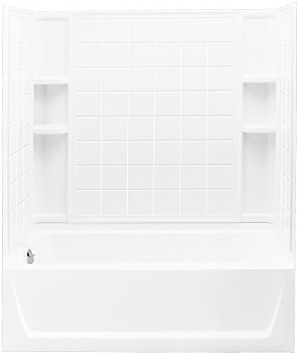 Ensemble Bath and Shower Kit, 60-Inch x 32-Inch x 74-Inch, Left-Hand, White - STERLING 71120110-0