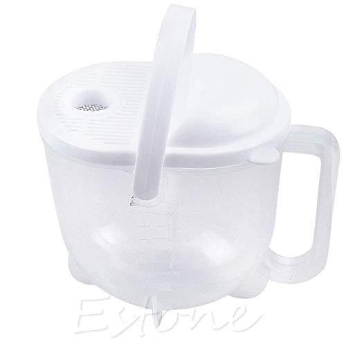 SimpleLife Lavadora de arroz rápida Máquina de Limpieza de Alimentos - Lava el arroz, Granos, Frijoles, Frutas y Verduras, 17.50 x 12.19 x 15.20cm