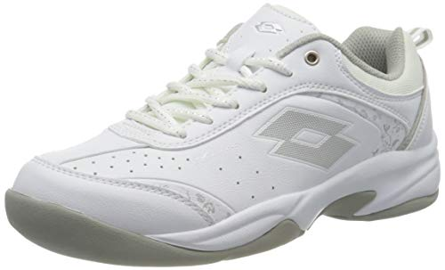 Lotto Damen Court Logo VIII W SI Tennisschuhe, Weiß (White/Silver 001), 40.5 EU