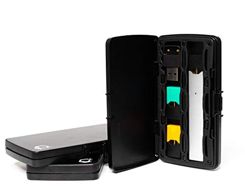 The Case by Jell Cases- Compatible with Juul, Juul Pods, and Third Party Pods- Black- (Devices Not Included)