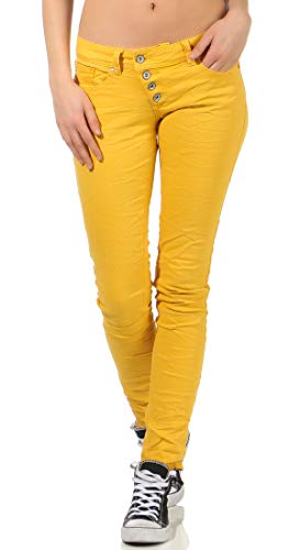 Buena Vista Damen Jeans Malibu Colour Denim golden Rod gelb - M