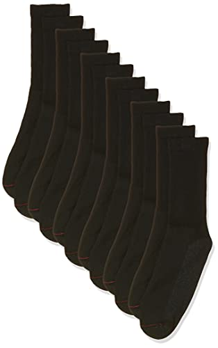 Hanes Men's Double Tough Crew Socks 6-Pair Pack, Available in Big & Tall