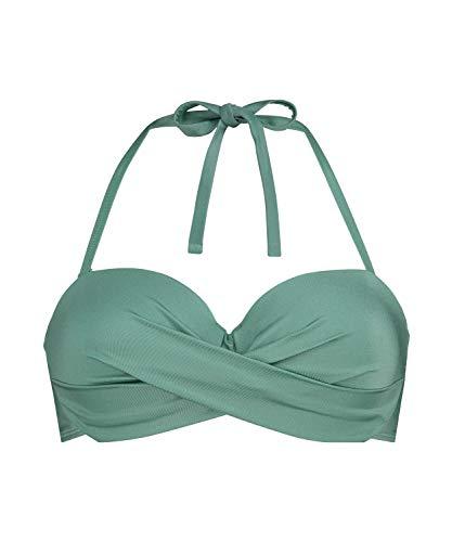 HUNKEMÖLLER Vorgeformtes Bügel-Bikinioberteil SoCal mit Push-up-Effekt grün 65A
