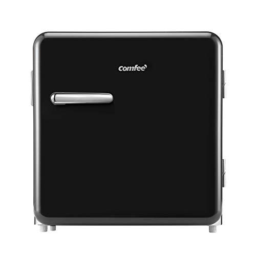 Comfee RCD50DK1RT(E) Mini frigorífico/Frigorífico retro/nevera de 47 L / 50 cm de altura / 100 kWh/año/Negro