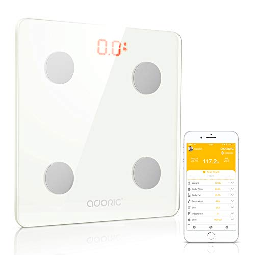 Why Choose Adoric Bluetooth Body Fat Scale Smart Digital Scale with Free APP for Android and iOS, Te...