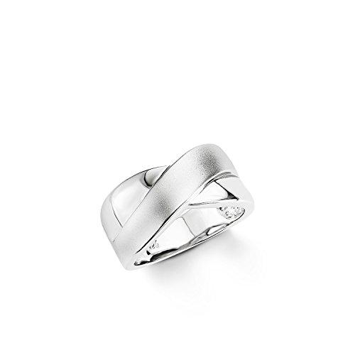 Amor Damen-Ring 925 Sterling Silber rhodiniert teilmattiert 106528