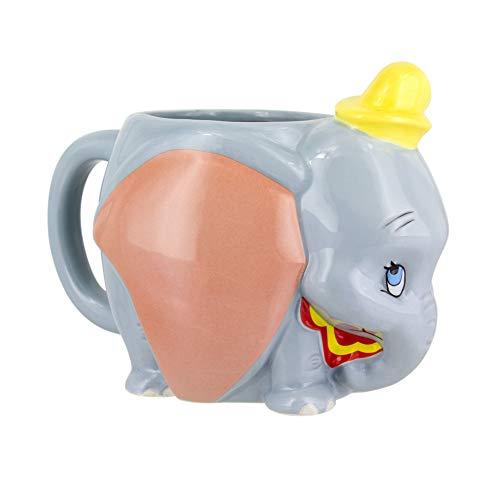 Disney 3D Tasse Dumbo  grau, bedruckt, aus Keramik, 320 ml., in Geschenkkarton.