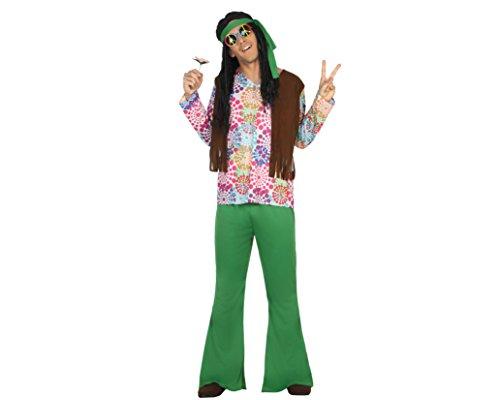 ATOSA disfraz hippie hombre adulto psicodélico M
