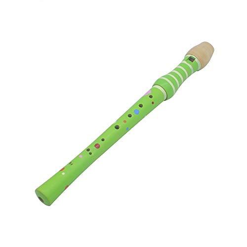8-Loch-Flöte Klarinette Piccolo Trompete Trompete Spielzeug Holz Frühkindliche Bildung Spielzeug Musikalische Bildung Musikinstrument für Kinder und Erwachsene ( Color : Green )