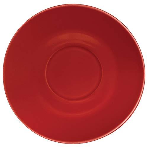 Olympia Lot de 12 soucoupes en porcelaine Rouge