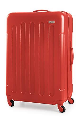 SUITLINE Suitline S3 - Großer Reisekoffer, Hartschalenkoffer ABS, 4 Rollen, 77 cm, 93 L, Rot