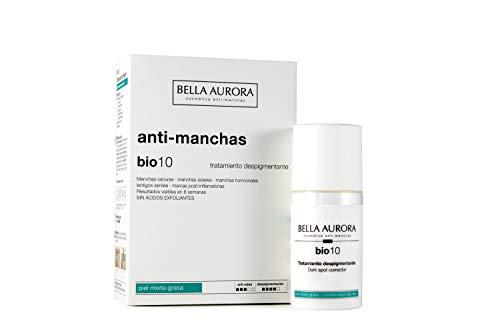 Bella Aurora Tratamiento Anti-Manchas Cara Piel Mixta-Grasa, Despigmentante Facial, Crema Quita-Manchas Cara, Bio 10, Aromatic, 30 Mililitros