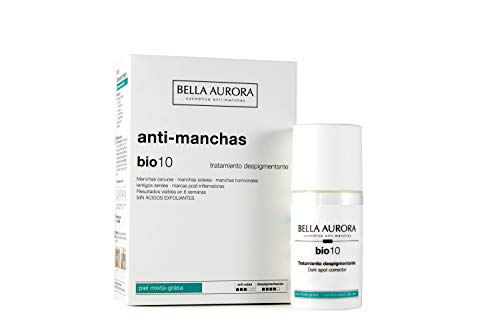 Bella Aurora Bio10 Serum Antimanchas Piel Mixta-Grasa | Tratamiento despigmentante Facial, 30 ml