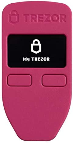 Trezor One - Crypto Hardware Wallet - The Most Trusted Cold Storage for Bitcoin, Ethereum, ERC20 and Many More (White)