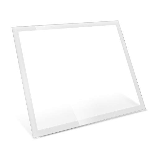 Fractal Design Tempered Glass Side Panel for Define R6/S2 and Meshify S2 Cases – Easy to Install – Tempered Glass – Scratch Resistant – Bolt Free Design – Fits Both Left and Right Side - White Light