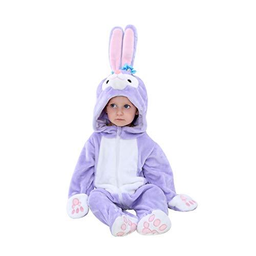 Disfraces para niños Bebé animal unisex de invierno vestuario de la franela con capucha otoño mameluco de Cosplay del mono, niños del conejo Animal pijamas Pijamas de animales para niños ( Size : E )