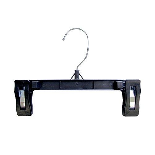 Hanger Central Heavy-Duty Black Plastic Closet Department Store Pants Hangers, 8 Inch, 100 Pack