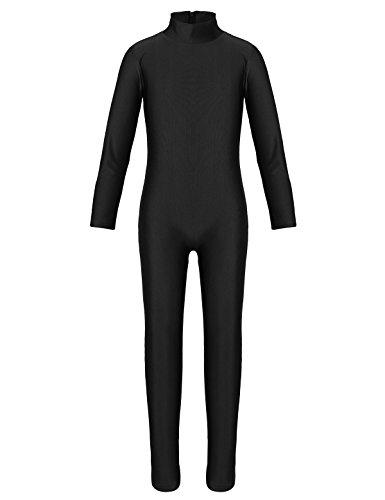 YiZYiF Kids Little Girls Boys Spandex Long Sleeve Full Body Unitard Skin Tight Dance Costumes