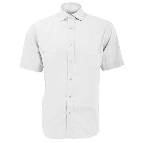 KUSTOM KIT - Chemise à Manches Courtes - Homme (S/M) (Blanc)