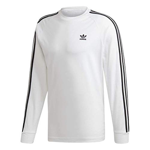 adidas Originals mens 3-Stripes Tee White/White Medium