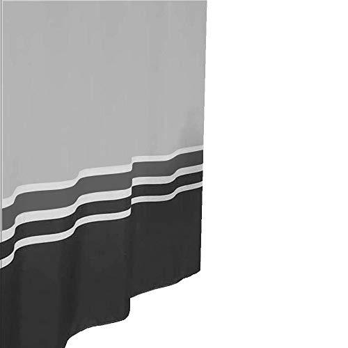 Daloual Duschvorhang/Brausevorhang/Vorhang/Dusche Duschgardine180 x 200 cm Schwarz Weiss