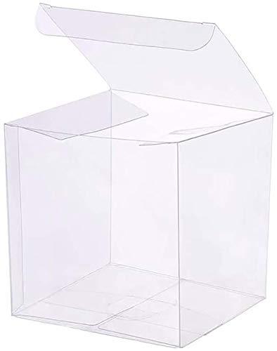 TOP-MAX 10PCS Scatole regalo trasparenti quadrate per bomboniere, per caramelle, cioccolato, San Valentino, confezione regalo, 10 x 10 x 10 cm
