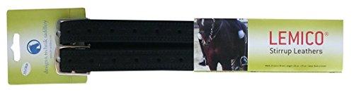 Reitsport Amesbichler D&T Lemico Steigbügelriemen schwarz, Länge: 160 cm Butterfly