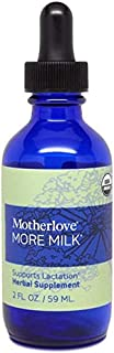 Motherlove More Milk Tincture (2oz) Herbal Fenugreek-Free Lactation Supplement—Enhance Breast Milk Supply for Breastfeedin...