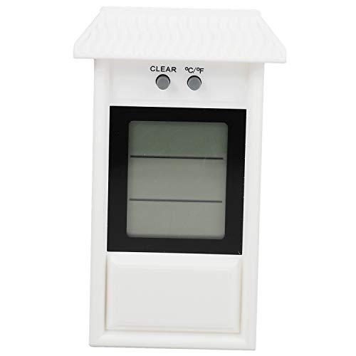 Jaimenalin Garden Thermomètre étanche Thermomètre à Mémoire Thermomètre pour Fenêtre en Plein Air Thermomètre pour Réfrigérateur Thermomètre Blanc