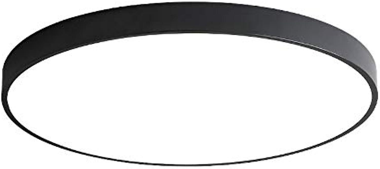 CHENSQ LED 24W Deckenlampe Moderne minimalistische Beleuchtung Flur Wohnzimmer Bad Lampe (schwarz)