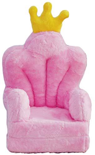 Bambi Poltrona, poltroncina apribile, divanetto per bambini in morbido peluche. Divano e giocattolo Trono Rosa.
