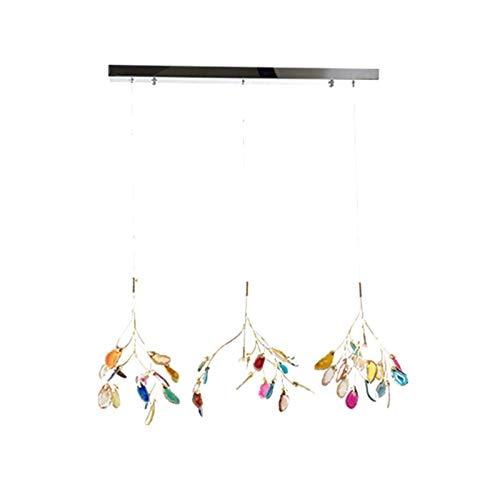 RTYUIO Lámpara de araña Industrial Moderna, lámpara de Techo de ágata Lámpara de araña Ajustable con zócalo G4 para Sala de Estar Color del Dormitorio 30cm (Color 35cm)