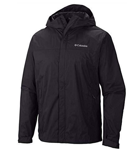 Columbia Mens Raincreek Falls Waterproof Rain Jacket (XL, Black)
