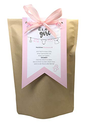 """Tinkerella® Geschenk zur Geburt eines Mädchens """"It's a girl"""" Geschenk-Set für die frisch gebackene Mama Mutter"""