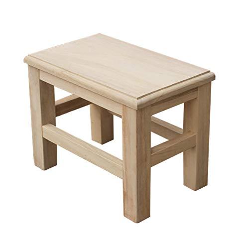 YLCJ kruk met voetenbank voor de werkkruk, van hout, kort, massief hout, voor hoge tafel, tafel of als bijzettafel (kleur: Hout, grootte: 20 cm) 40cm HOUT