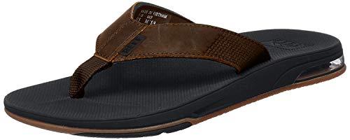 REEF Men's Fashion Casual Flip-Flop, Dark Brown, 9 UK