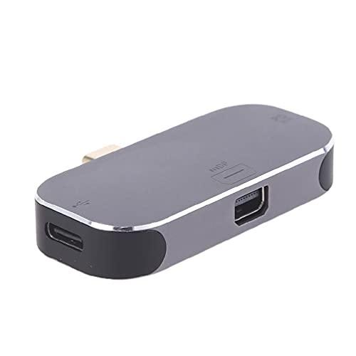 Alta eficiencia USB-C/Tipo-C a Mini DP/convertidor de puerto de pantalla con 100W puerto de carga ordenador Tablet adaptador USB c a Mini adaptador dp para monitor